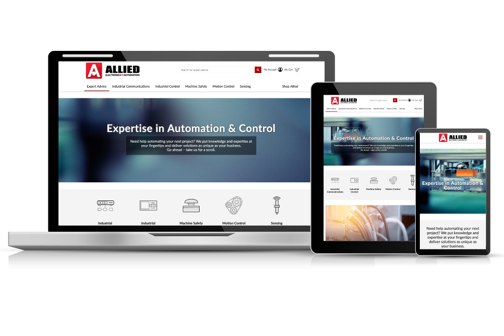 Allied Electronics & Automation Website